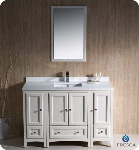 Traditional Bathroom Vanities And Cabinets 48 Quot Fresca Oxford Fvn20 122412aw Traditional Bathroom Vanity With Two Side Cabinets Antique
