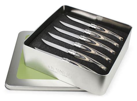 opinel steak knives opinel birch wood handle steak knife set 6