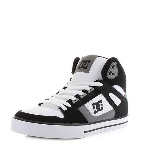 Sket Dc Black White mens dc spartan high wc black grey white high top skate shoes trainers sz size ebay