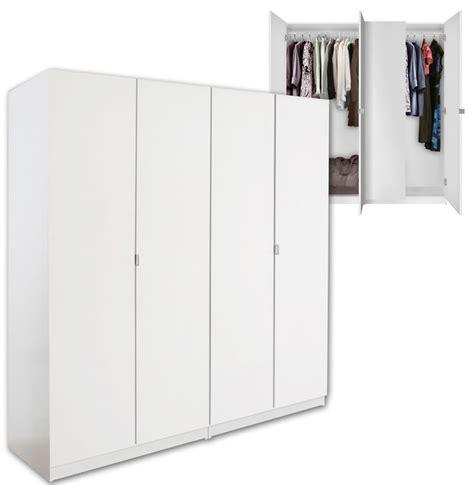 Free Standing Closet Wardrobe Alta 4 Door Wardrobe Closet Basic Package Free Standing