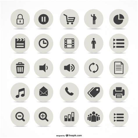 icon design vector free download multimedia simple icons set vector free download
