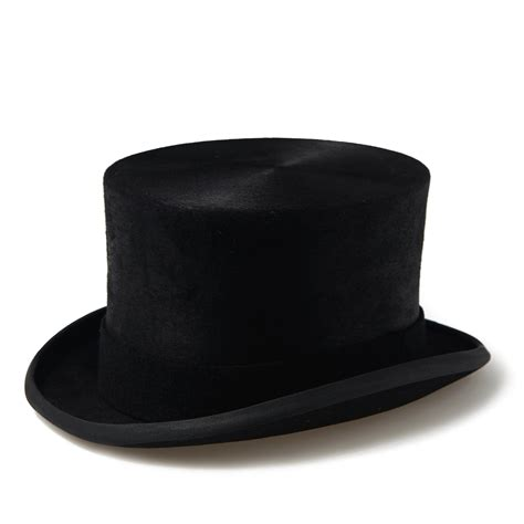 black best black top hat
