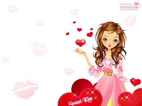 wallpaper of cartoon girl lovely vector girl fashion girls cartoon wallpaper 29