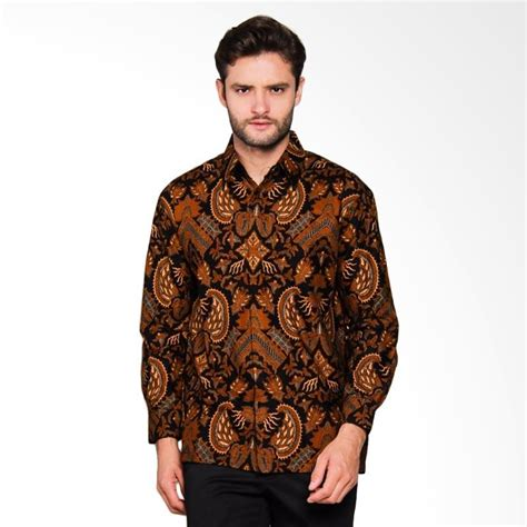 Baju Batik Kemeja Pria Slim Fit Modern Hes05 jual adiwangsa model modern slim fit baju kemeja batik pria 028 harga kualitas