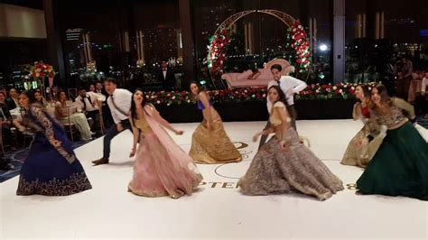 BEST INDIAN BOLLYWOOD WEDDING RECEPTION DANCE 2018   YouTube