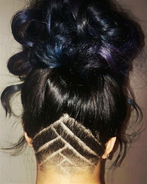 undercut hairstyle pattern nape undercut triangle designs