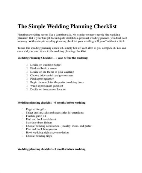 printable wedding checklist nz 43 checklist templates exles sles