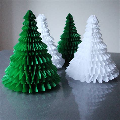 Paper Table Decorations To Make - paper tabletop tree decorations by pearl and