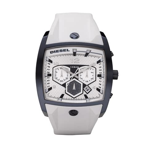 Diesel Time White gents dz4212 163 133 00 from timewatchshop free
