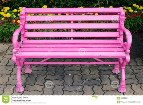 pink bench pink bench stock photo image 58885065