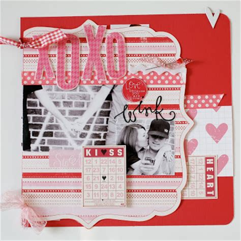 Valentines Scrapbooking Idea by Scrapbooking Ideas For Valentines Day Cards