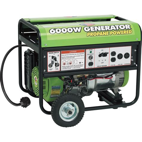 portable propane generator all power america portable propane generator 6000 surge