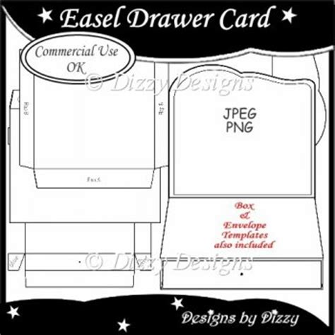 easel box card template easel drawer card template 163 3 00 instant card