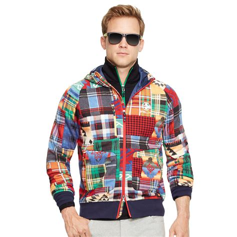 Ralph Patchwork - lyst ralph patchwork cotton terry hoodie