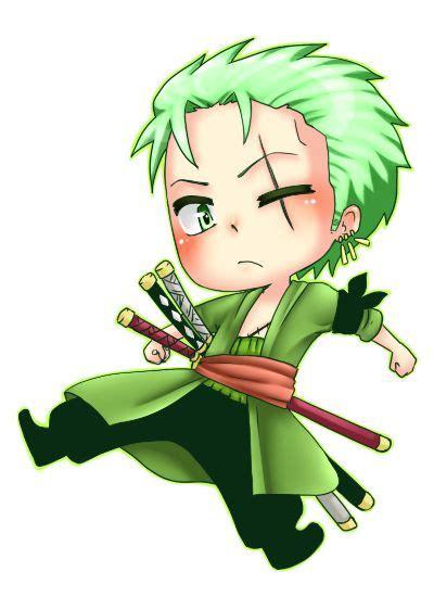 Jaket Keren Anime Roronoa Zoro chibi and one on