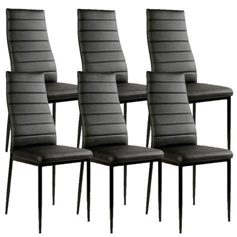 lot de chaise lot de 6 chaises noir matelass 233 design achat vente