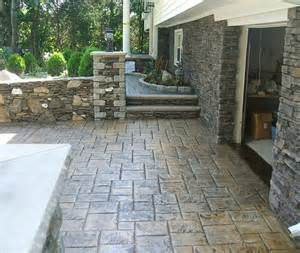 Seal Cement Patio by Sealing Stamped Concrete Swimming Pool Patio D