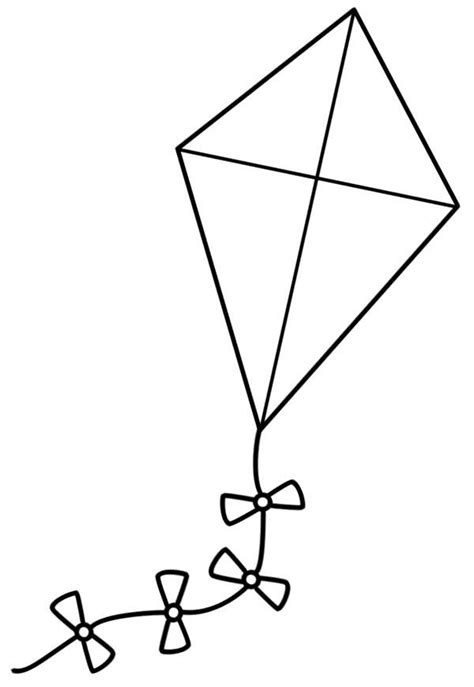 coloring page of kite geography blog letter k coloring pages