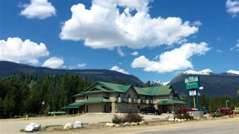 Front Of Hotel Picture Of Glacier Mountain Lodge Blue