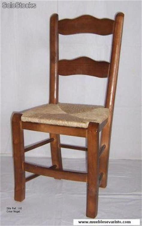 silla rustica madera asiento enea anea ref