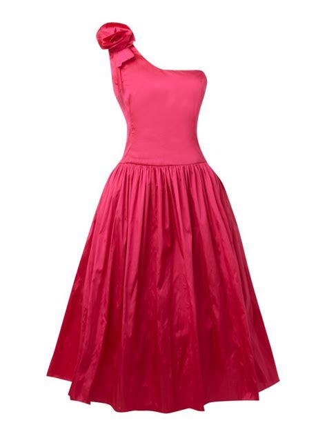 dress design for js prom js collections flower shoulder prom dress in hot pink ebay