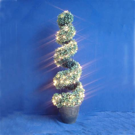 spiral christmas topiary crafts