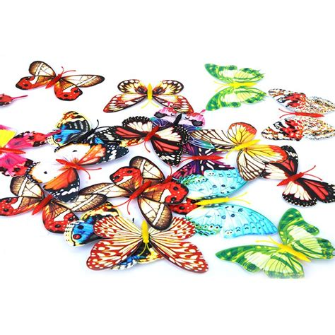 aliexpress com buy buterfly pattern japanese cute fake 20pcs 10cm luminous 3d artificial butterfly fridge magnet