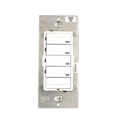 Leviton Lighting Fixtures Leviton Decora Dimmer Timer With Bluetooth Technology White 2 Pack P00 Ddl06 2pk The Home Depot