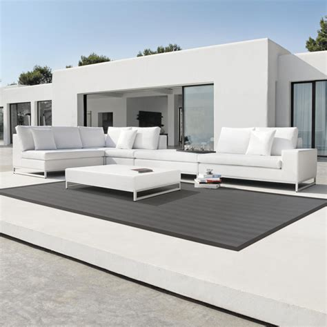 leather outdoor furniture aluminium frame with leather sofa modern outdoor sofas