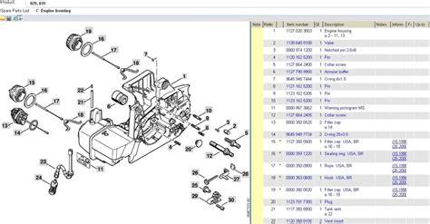 stihl 039 chainsaw parts diagram stihl ms 390 parts diagram automotive parts diagram images