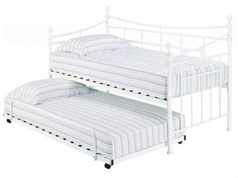 metal trundle bed white daybeds with trundle dhp white manila full size