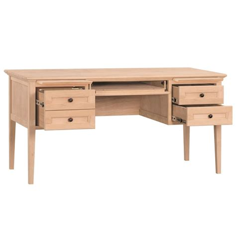 60 inch desk with drawers 60 inch 4 drawer desks bare wood wood