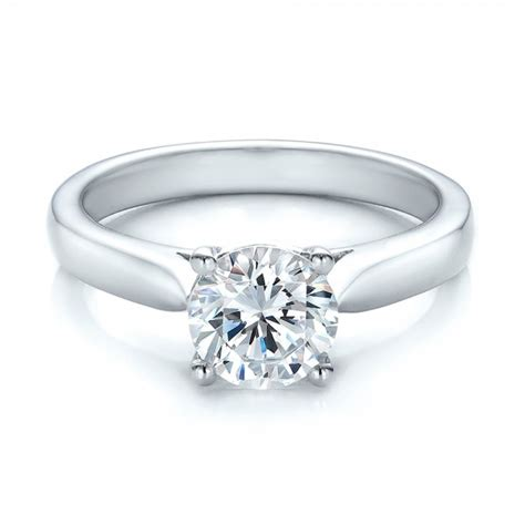 Contemporary Engagement Rings by Contemporary Solitaire Engagement Ring 100399 Bellevue