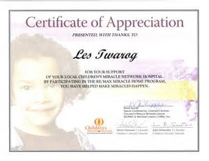 template of certificate of appreciation sle certificate of appreciation template