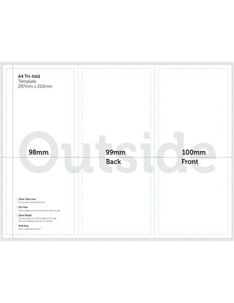 A4 Brochure Tri Fold Template Free Download A4 Size Tri Fold Brochure Template