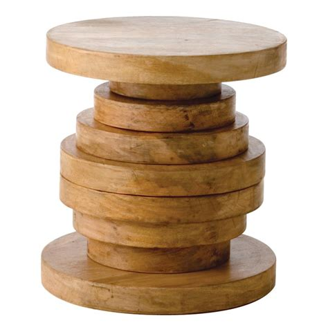 wooden accent tables modern rustic large chunky round wood end accent table a