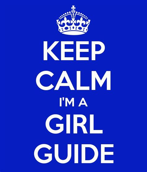 girl guide themes keep calm i m a girl guide poster and badge kids craft