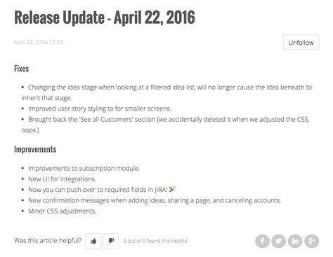 release notes template how to write great release notes prodpad