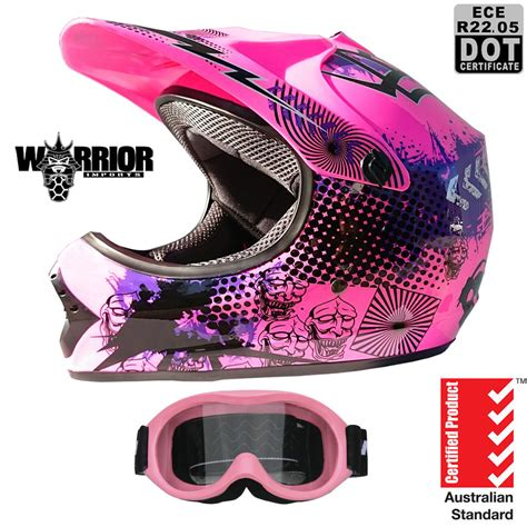 pink motocross motocross dirt bike helmet kids youth xs to xl pink