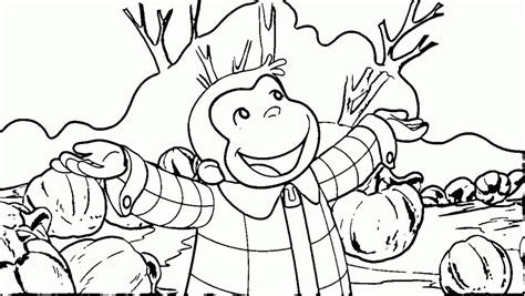 curious george halloween party boo fest for kids coloring