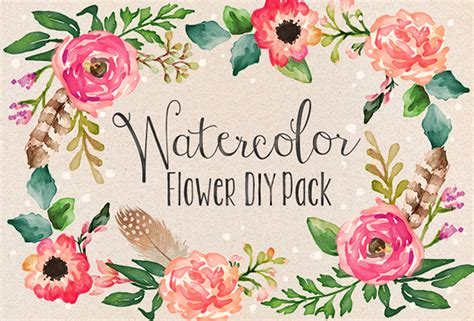 Set5 Hand Drawn Floral Corners Vol 1 Hd Walls Find Wallpapers | watercolor flower diy pack vol 1 on behance