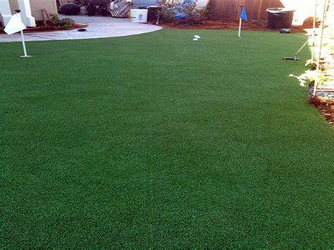 artificial turf cost albion california indoor putting green backyard designs