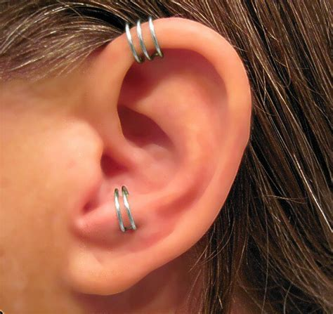 Handmade Ear Cuffs - sale 2 cuffs no piercing handmade 1 helix cuff ear cuff