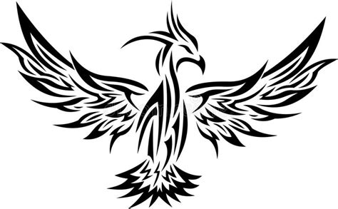 tribal phoenix tattoo 2 stock vector illustration of