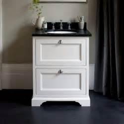 burlington 65 freestanding vanity unit with two drawers