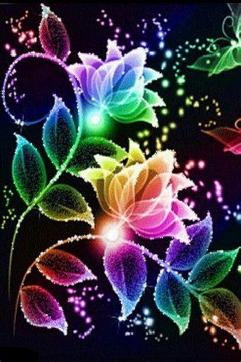 glitter wallpapers of flowers rainbow flowers background flowers pinterest flower