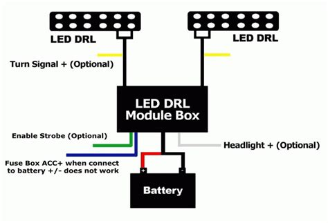 led daytime running light automatic on relay module box