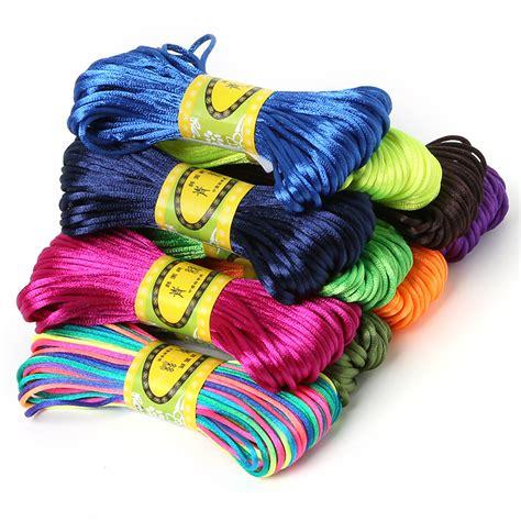 2mm 20meter Soft Satin Rattail Silk Macrame Cord Nylon Kumihimo Shamballa For DIY Chinese Knot