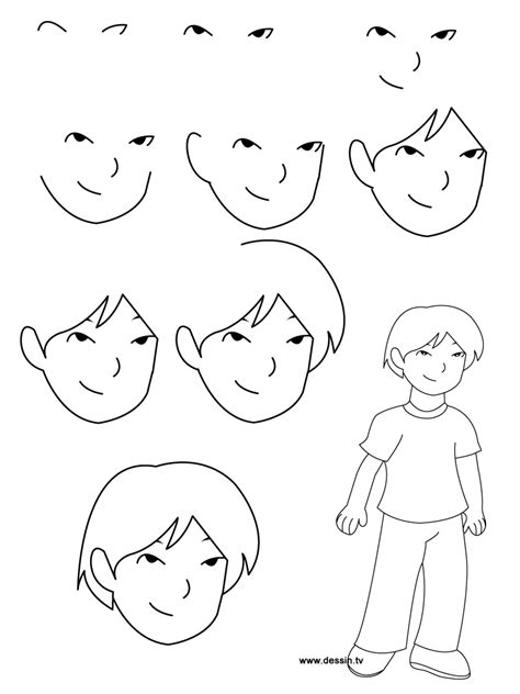 learn how to draw doodle jpeg learn how to draw a boy with simple step by step