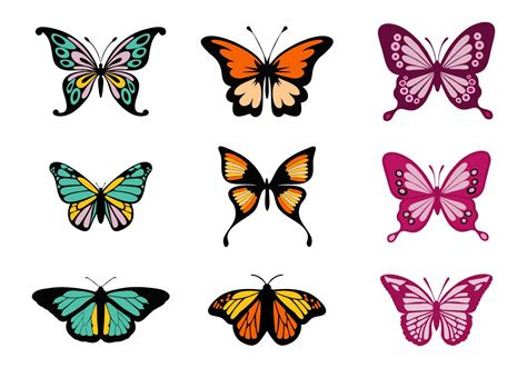 colorful butterflies free colorful butterflies vector free vector